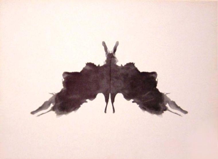 Inktvlek uit de test van Hermann Rorschach