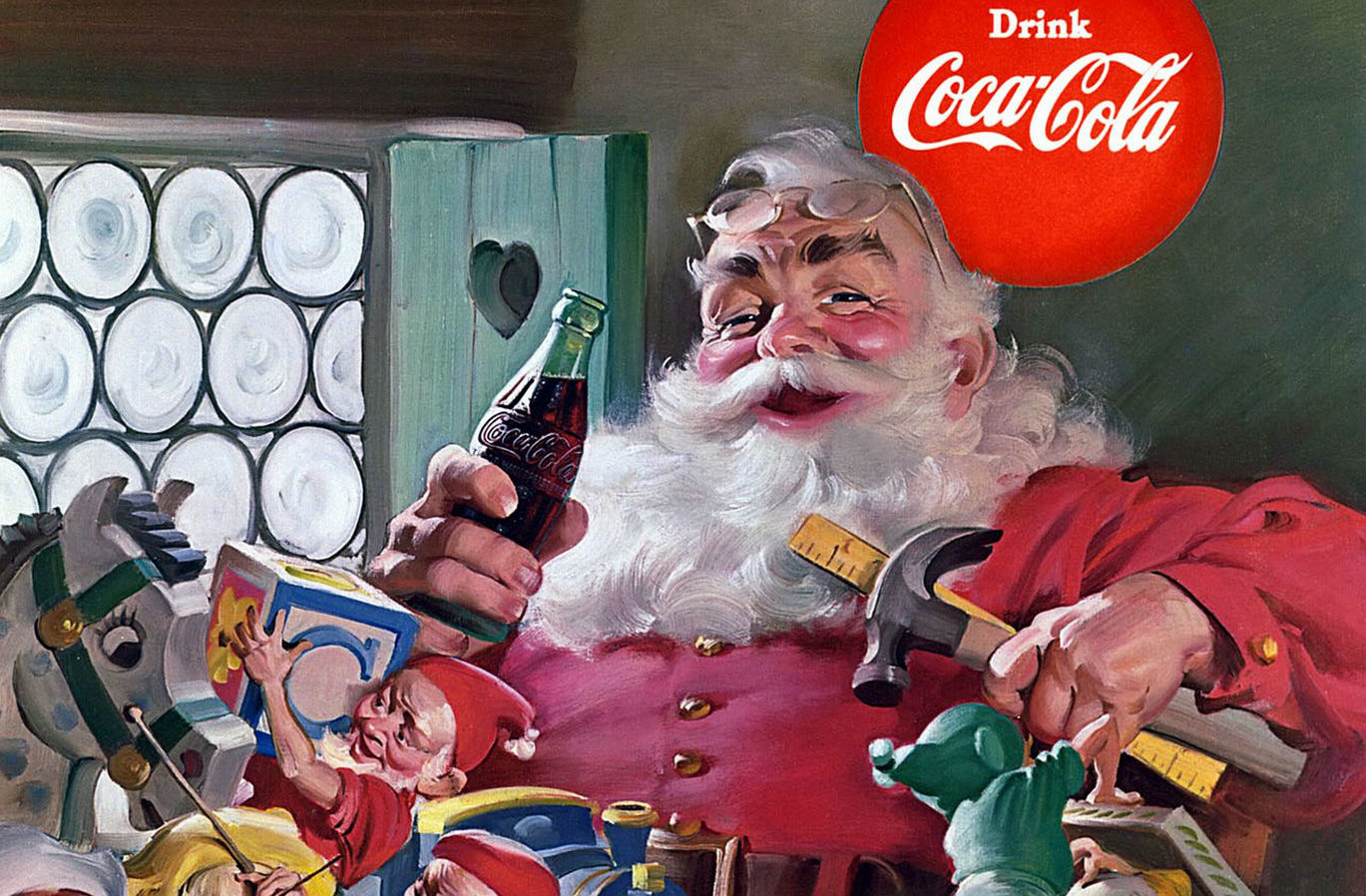 Coca Cola Santa uit 1954