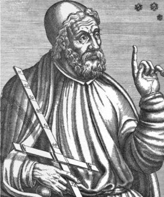 Een middeleeuws geïdealiseerd portret van Claudius Ptolemaeus