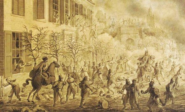 De eindfase van de strijd om Arnhem op 30 november 1813