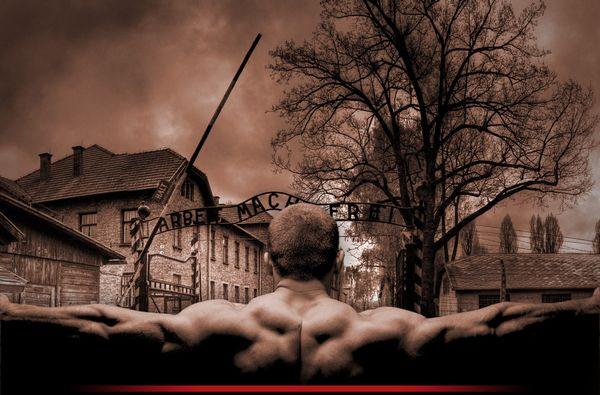 Bokser in Auschwitz, detail van de boekcover