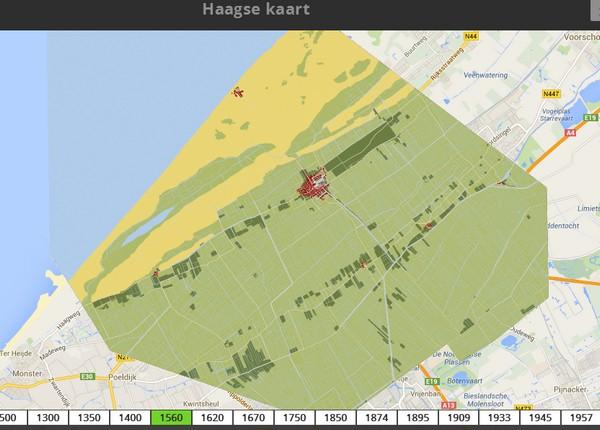 Den Haag rond 1560 - Haagsekaart.nl