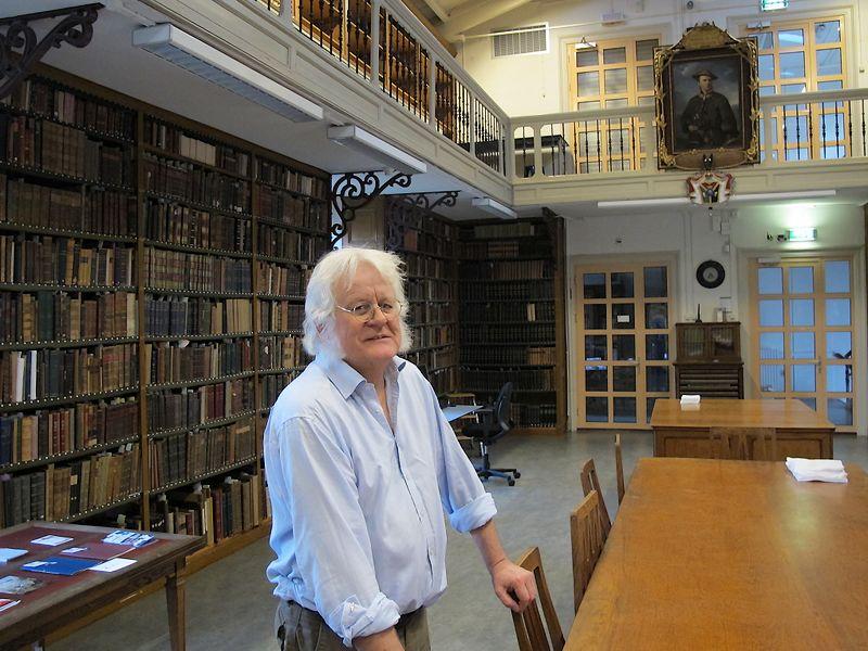 Redmond O'Hanlon in de Artis Bibliotheek - Foto: Tristan Mostert