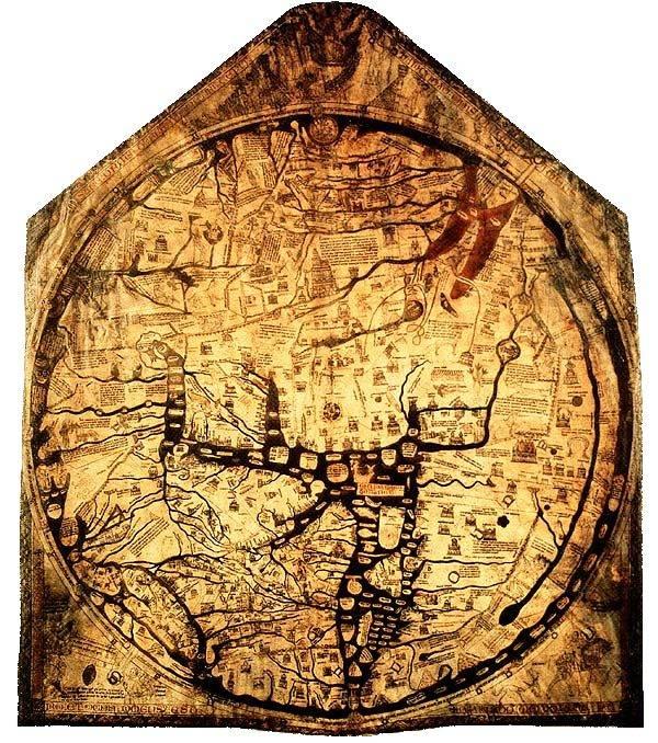 Hereford Mappa Mundi, 1300