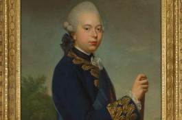 Prins Willem V, de laatste stadhouder van Holland. Schilderij door Benjamin Samuel Bolomey, 1772 (Haags Historisch Museum)