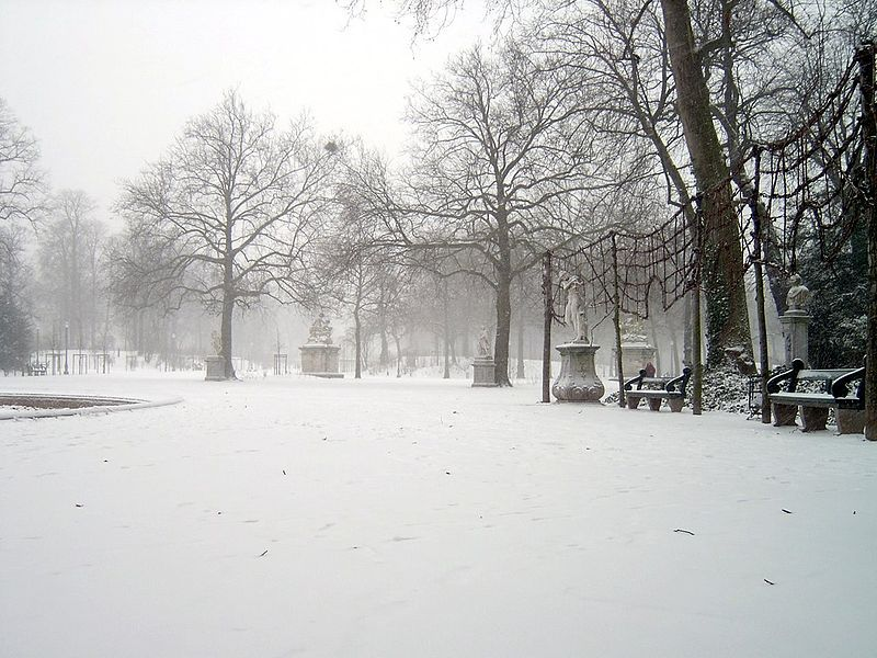 Warandepark in de winter van 2003
