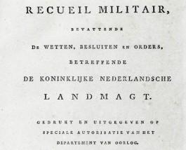 Oprichting 'Staande Armee' - Afb: Defensie