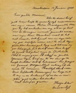 De afscheidsbrief van Ans van Dijk - NIOD