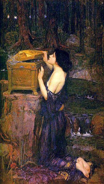 De doos van Pandora - John William Waterhouse
