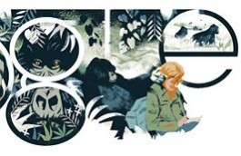 Google Doodle ter ere van Dian Fossey