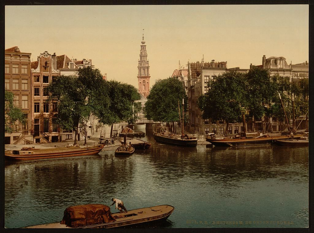 Groenburgwal in Amsterdam rond 1890 (Library of Congress)