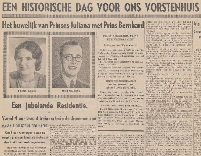 Nieuwe Tilburgsche Courant, 7 januari 1937 (KB)