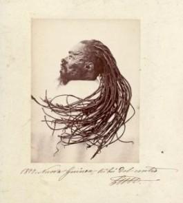 Het verdwenen hoofd zoals afgebeeld in de boeken van Luigi D'Albertis