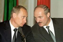 Aleksandr Loekasjenko en Vladimir Poetin, 2002