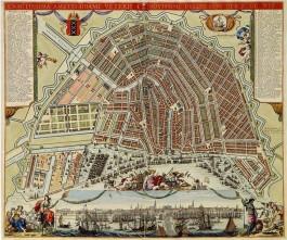 n deze kaart, gemaakt door Frederik de Wit na 1688, zien we de 26 bolwerken die in de 17e eeuw werden aangelegd