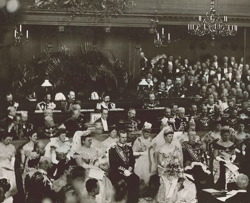 Het huwelijk van koningin Wilhelmina met Hendrik van Mecklenburg (1901)