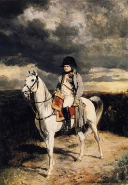 Napoleon in 1814 op zijn paard 'Marengo' -  Jean-Louis-Ernest Meissonier