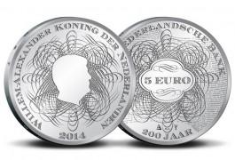 Herdenkingsmunt ter ere van 200 De Nederlandsche Bank (KNM)