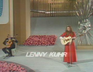 Lenny Kuhr tijdens het Songfestival van 1969
