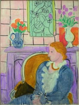 Robe bleue dans un fauteuil ocre - Henri Matisse