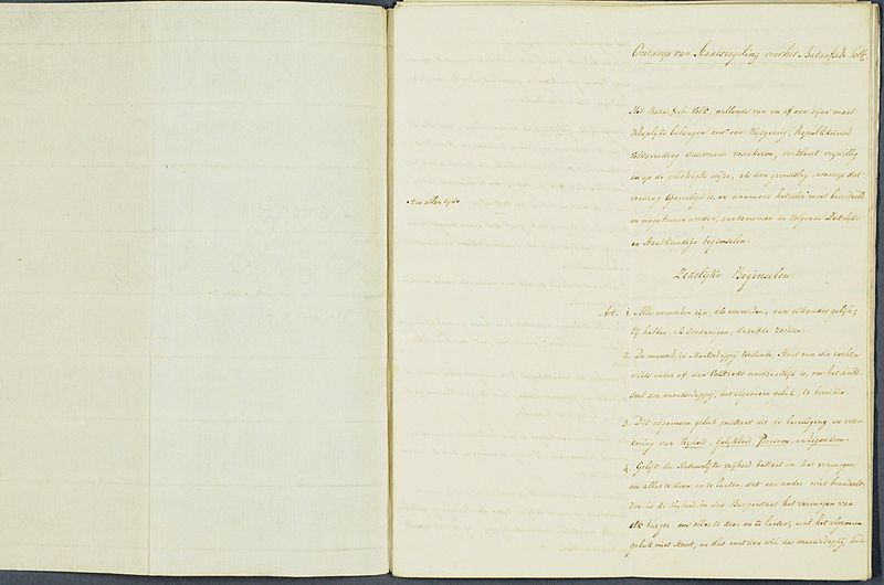 Staatsregeling voor het Bataafsche Volk, 1798 (Publiek Domein - Nationaal Archief)