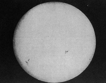 De allereerste foto van de zon (Foucault & Fizeau)