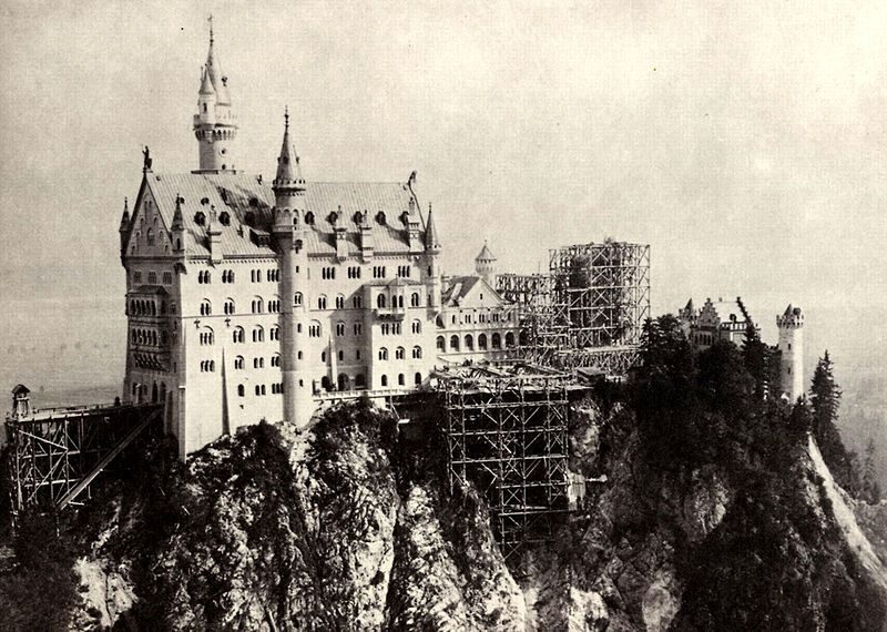De bouw van Slot Neuschwanstein, ca. 1882-85