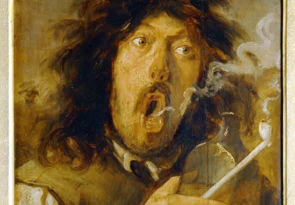 De drinkende roker - Joos van Craesbeeck (17e eeuw)