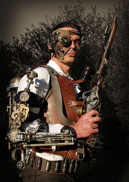 Man in steampunk-outfit (OTRS-Alexander Schlesier)