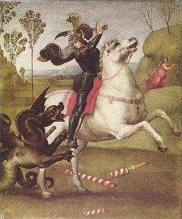 Sint Joris en de draak - Rafaël