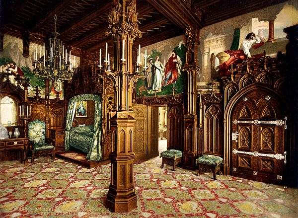 Slaapkamer in Slot Neuschwanstein
