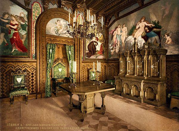 Studiezaal van Slot Neuschwanstein, 1886