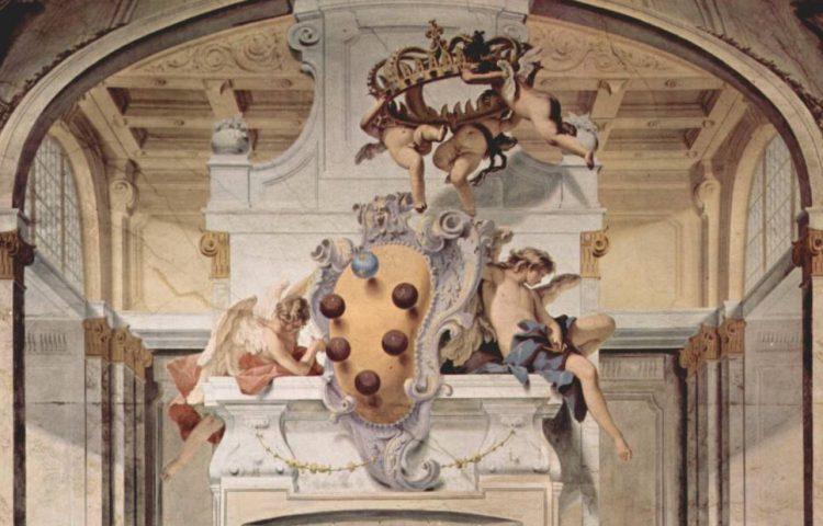 Het wapen van De' Medici in Palazzo Pitti, Florence