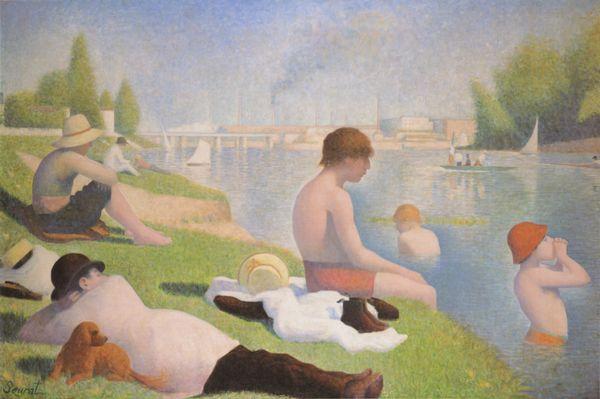 Baigneurs a Asnieres - Georges Seurat, 1884