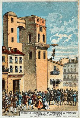 De sprong van Louis-Sébastien Lenormand in 1783