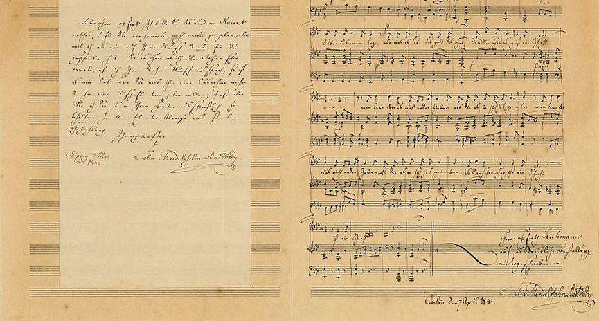 De verloren gewaande Mendelsohn-compositie (Christies)