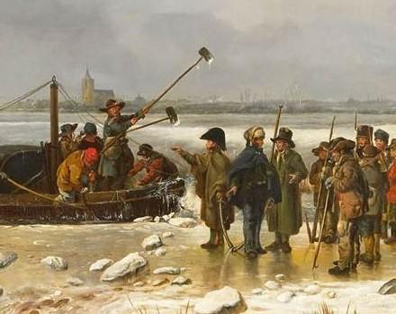 Detail van het schilderij van Pieter Gerardus van Os