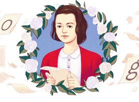 Doodle ter ere van Sophie Scholl