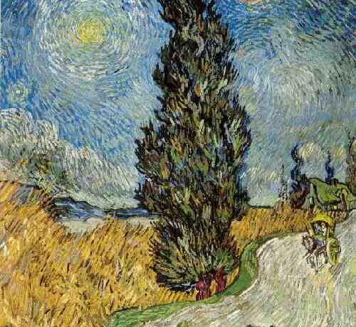 Een ander cipres-schilderij van Vincent van Gogh