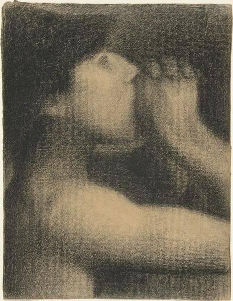 L'écho, étude pour Une Baignade - Georges Seurat, ca. 1883