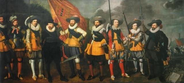 Schutterij - Nicolaes Lastman en Adriaen van Nieulandt - Schutters van het vendel van kapitein Abraham Boom en luitenant Oetgens van Waveren, 1623 (Amsterdam Museum)