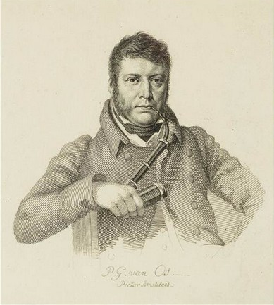 Portret van Pieter Gerardus van Os (detail). Stippelets door Jacob Ernst Marcus naar een werk van Hendrik Willem Caspari uit 1816. (Rijksmuseum)