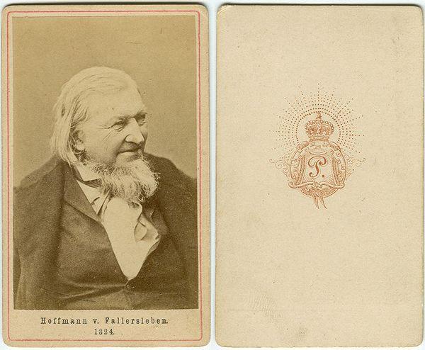 Visitekaartje van Hoffmann uit ongeveer 1865