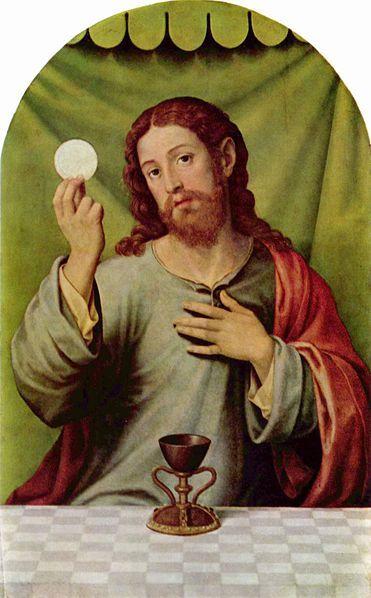 Christus met hostie en wijn - Vicente Juan Masip, 16e eeuw