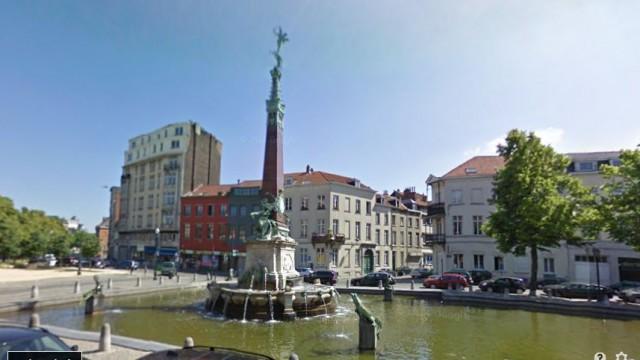 Het Anspachmonument in Brussel (Google Street View)
