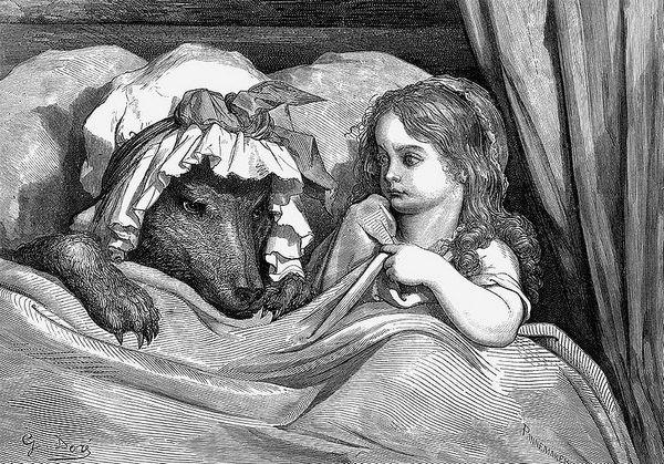 Roodkapje en de wolf - Gustave Dore