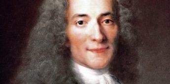 Voltaire wilde duivel op sterfbed niet schofferen