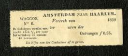 Het nagemaakte kaartje uit 1939 (Spoorwegmuseum)