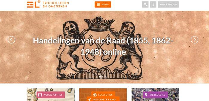 Nieuwe website van Erfgoed Leiden en Omstreken