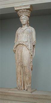 Originele kariatide in het British Museum - cc